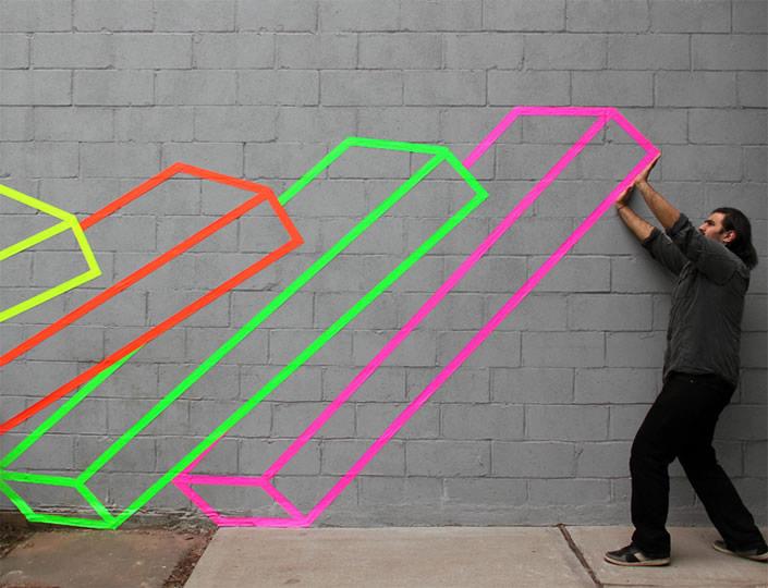Geometric shapes art for Geometric illusion art