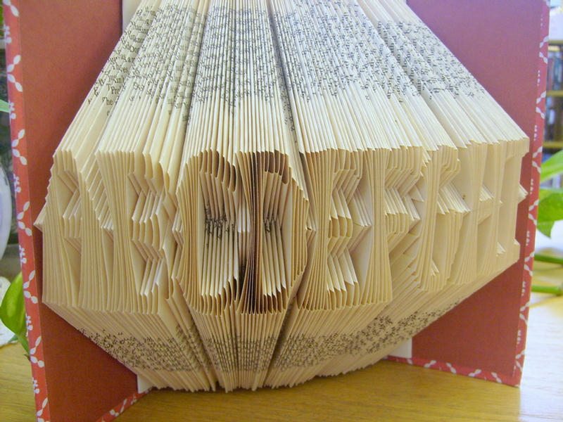 Folding Book Pages To Make Alphabets