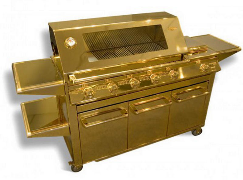 World s most expensive gold plated barbecue grill