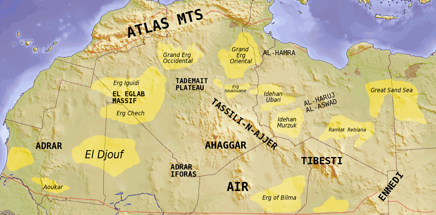 Sahara Sand Desert Map Images Geography