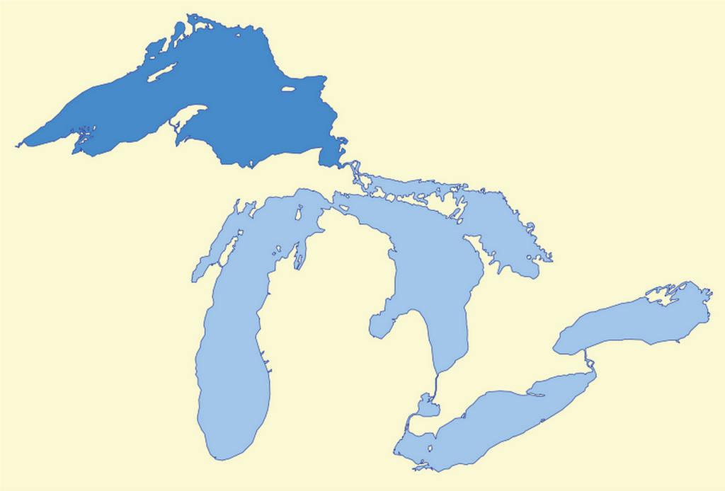 Где находится верхнее озеро
