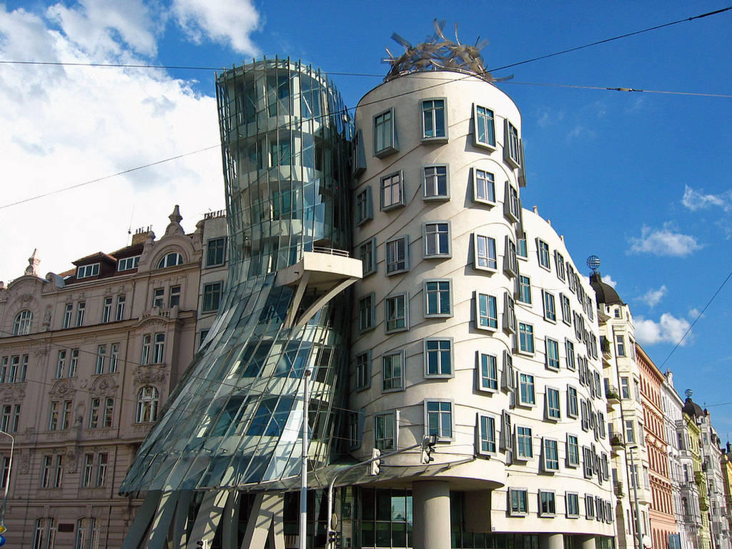 dancing house building images detail