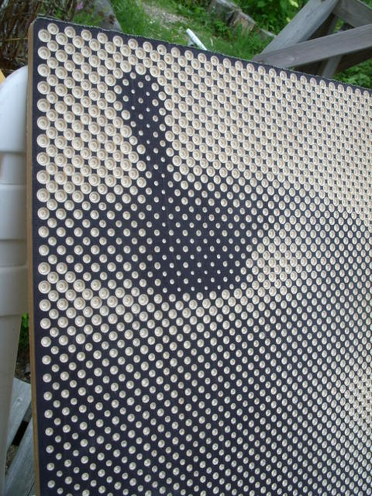 Halftone Pictures Drilled On Wood Xcitefun Net