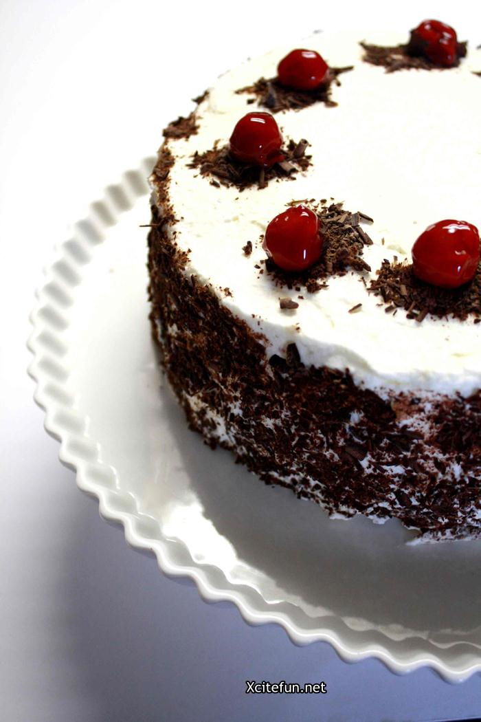Black Forest Birthday Cake Recipe - XciteFun.net
