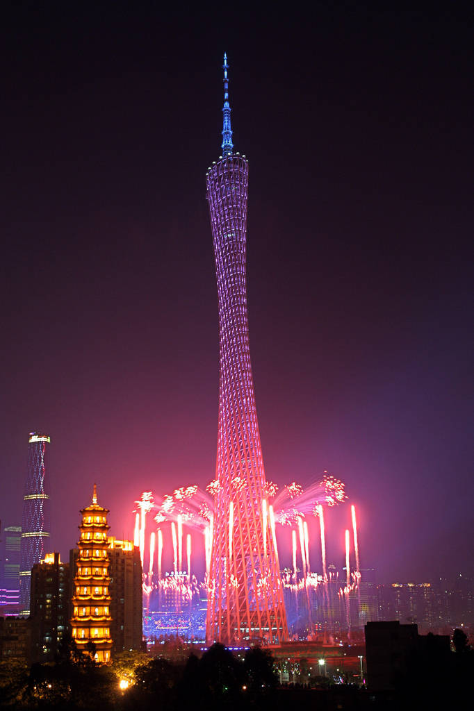 Canton Tower China Images Colorful Building Xcitefun Net