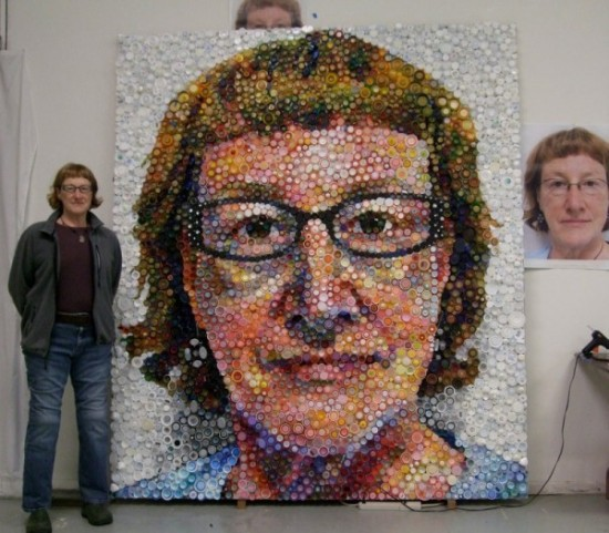 Self Portrait With Plastic Bottle Caps Xcitefun Net