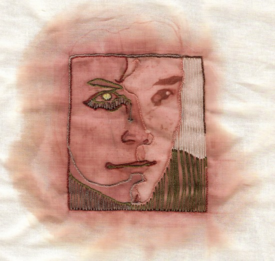 Wine On Embroidery  Amazing Portraits