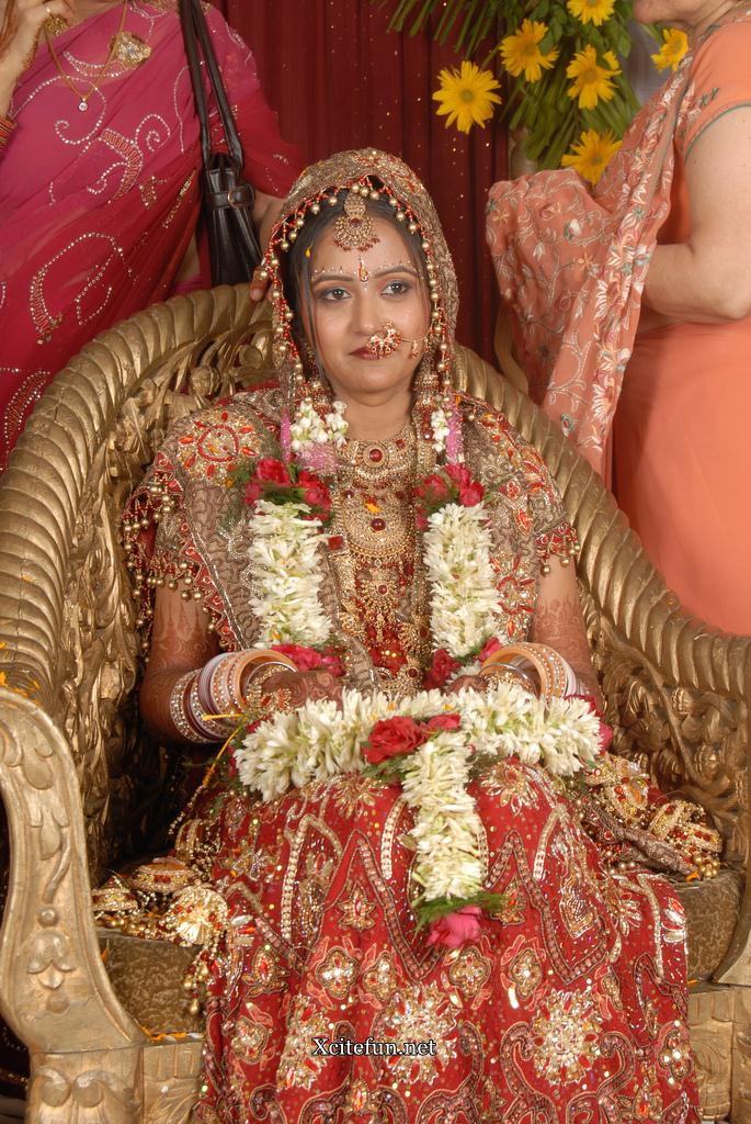 Indian Bridal Traditional Dress jewelry And Makeup