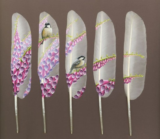 266951xcitefun swan feather painting 5 - Master Piece of Painting On Swan Feathers