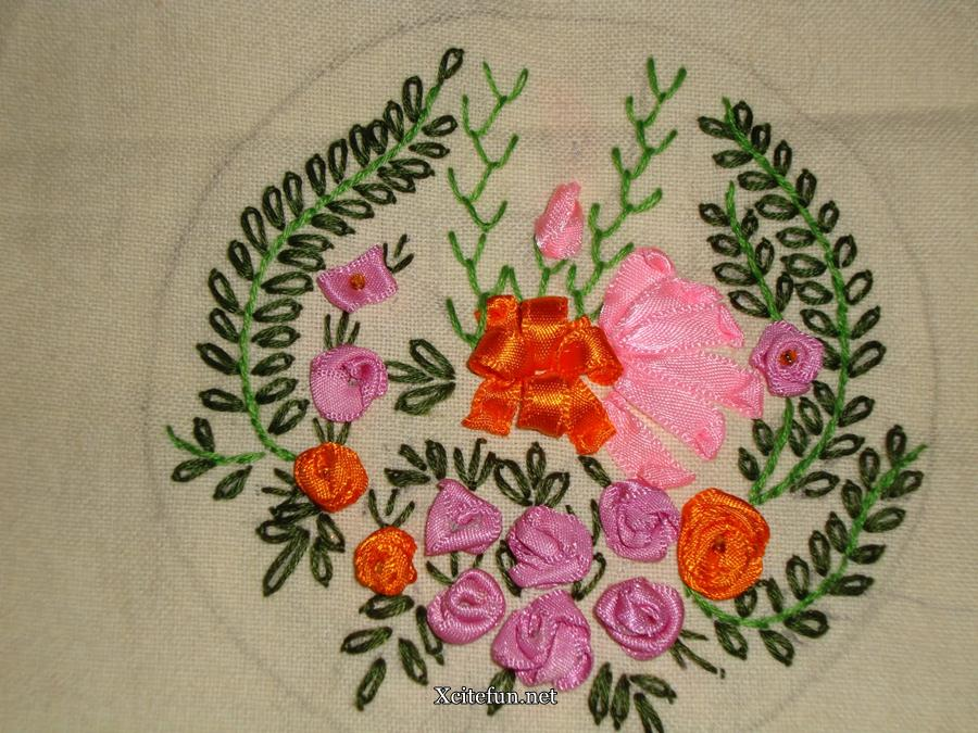 Ribbon embroidery decorate your home xcitefun