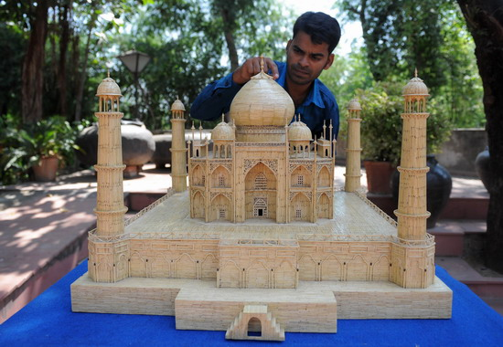 Taj Mahal Detailed Matchsticks Model
