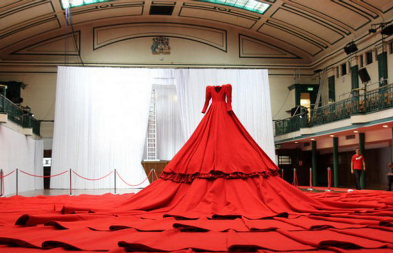 Red Dress and Concert Hall  London