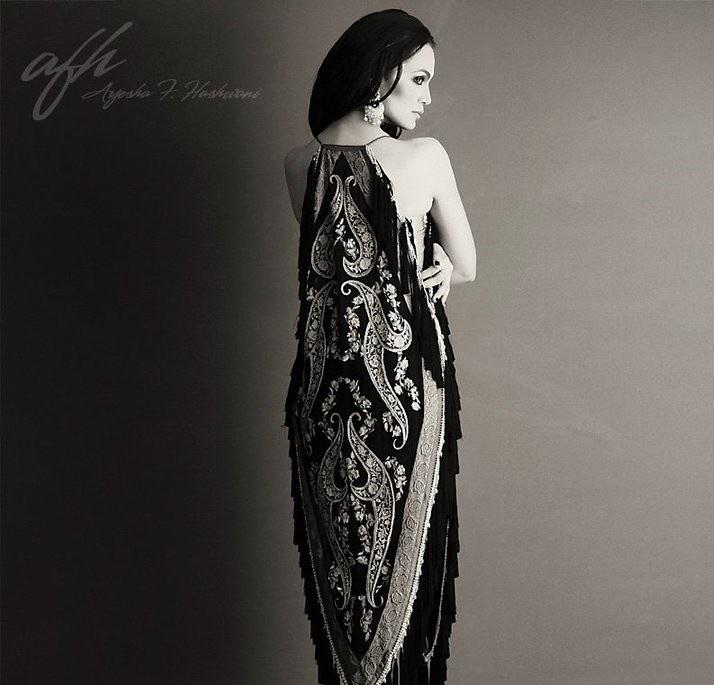 Amina Sheikh Black And White Photo Shoot