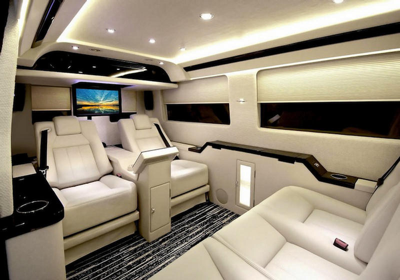 mercedes benz van shocking luxury interior