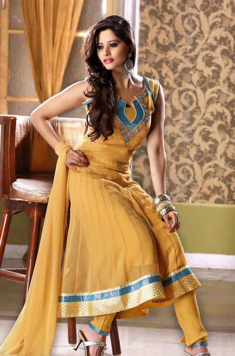 277574xcitefun chooridaar suits 7 - Churidar Salwar Kameez Frock - Designer Collection