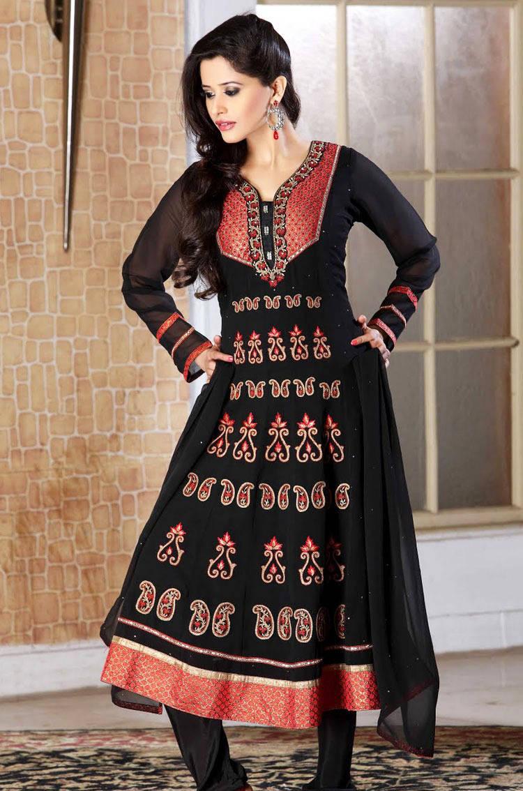 277577xcitefun chooridaar suits 4 - Churidar Salwar Kameez Frock - Designer Collection