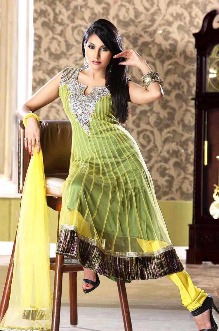 277580xcitefun chooridaar suits 1 - Churidar Salwar Kameez Frock - Designer Collection
