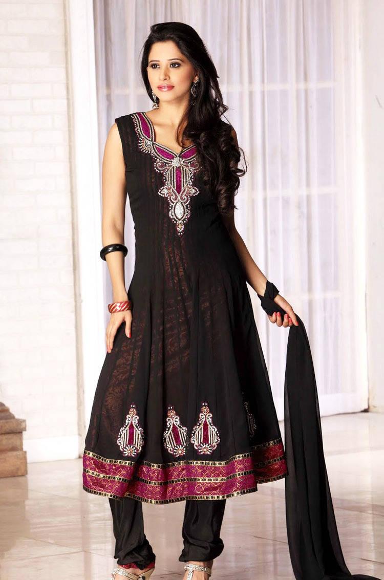 277585xcitefun chooridaar suits 16 - Churidar Salwar Kameez Frock - Designer Collection