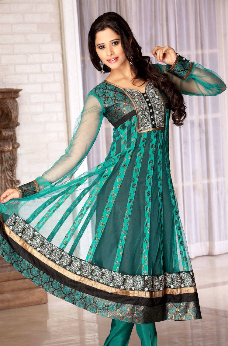 Frock suit party wear designs latest designs for girls for Net designs