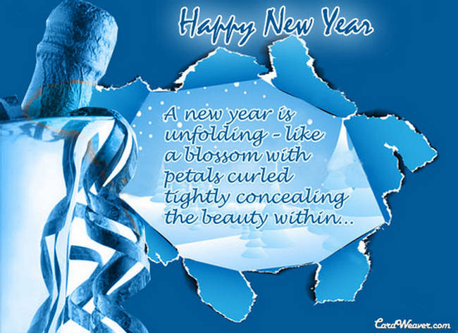 new year greetings card 2012