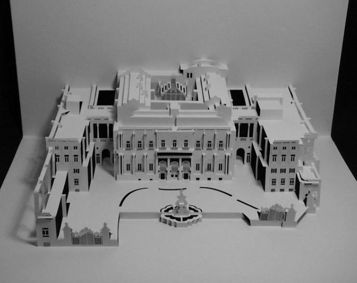 unbelievable paper cut building architecture