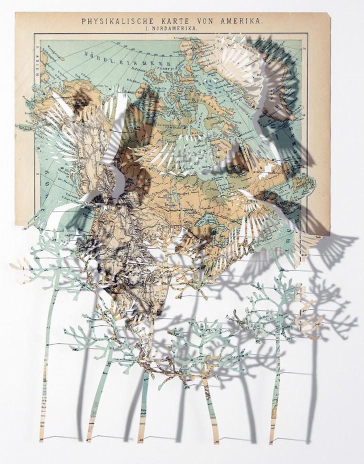 Animal Art With Maps