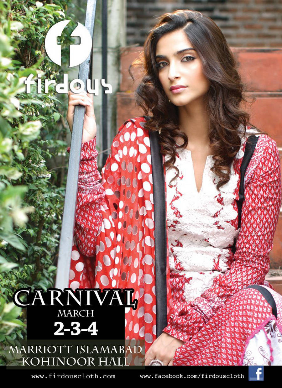 284759xcitefun sonam kapoor firdous 6 - firdous Lawn Collection... 2012