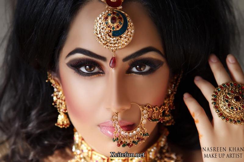 Gold Bridal Makeup : Kundan Gold Bridal Jewelry Makeup by Nasreen Khan ...