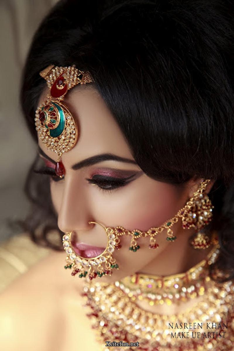 Gold Makeup For Wedding : Kundan Gold Bridal Jewelry Makeup by Nasreen Khan ...