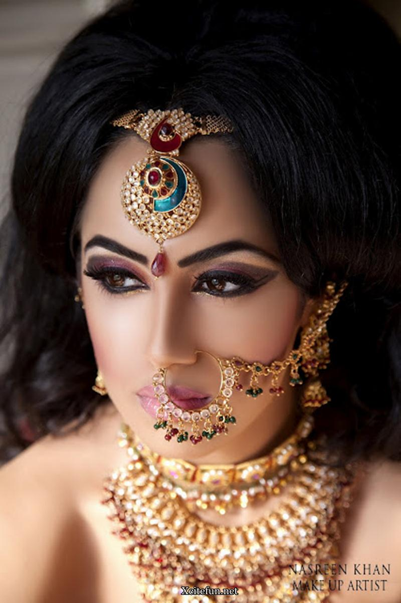 Kundan Gold Bridal Jewelry Makeup By Nasreen Khan