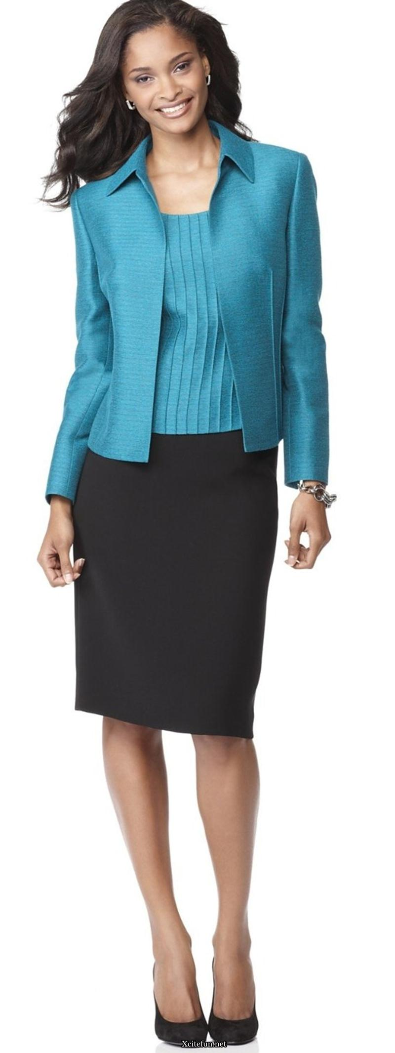 sophisticated office suit for women