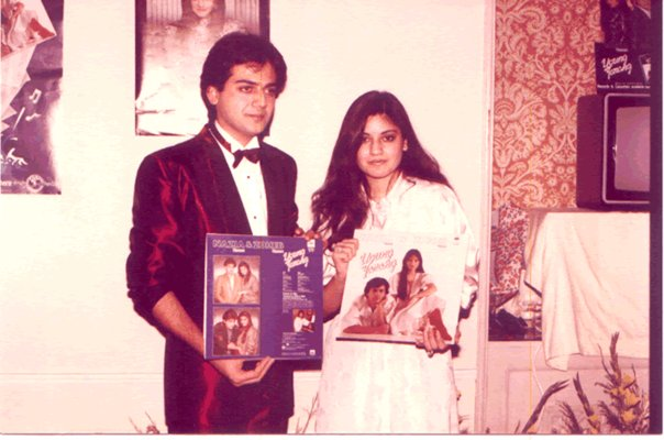 nazia hassan childhood pictures rare collection