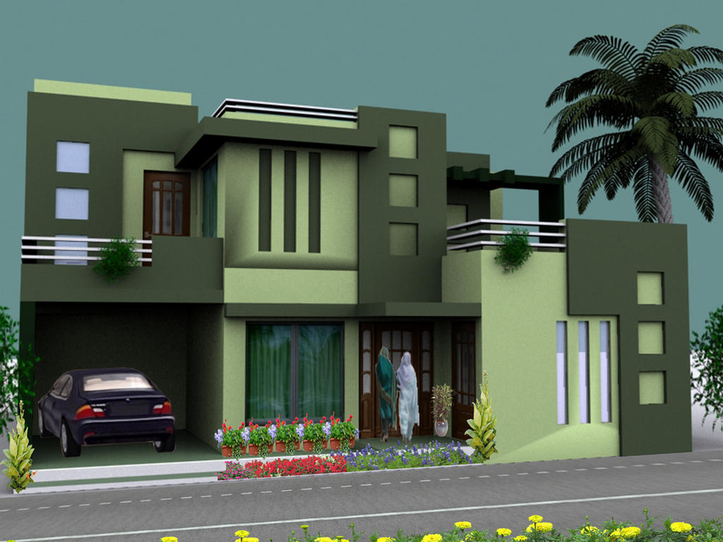 My lovely house 3d elevation for Latest house elevation
