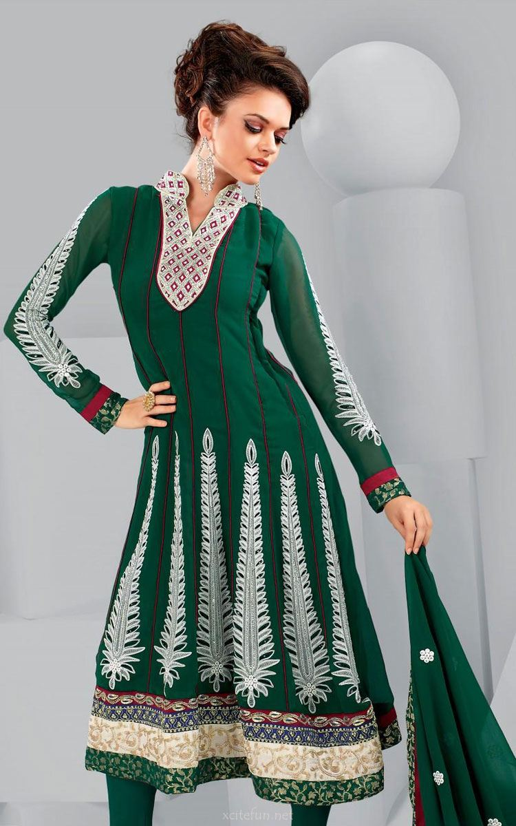 Punjabi Salwar Suits Design For Girls Pictures Pics Images 2013