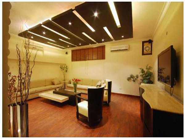 Modren False Ceiling With Wood Material
