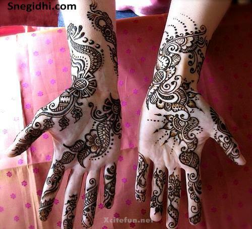 pakistani bridal rajasthani mehndi design   xcitefun