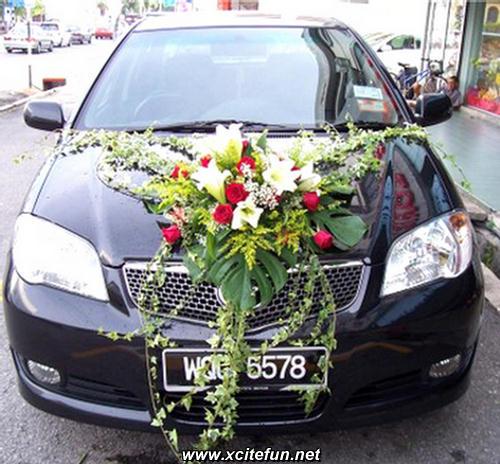 Wedding cars beautiful ideas - Wedding decorations for car ...