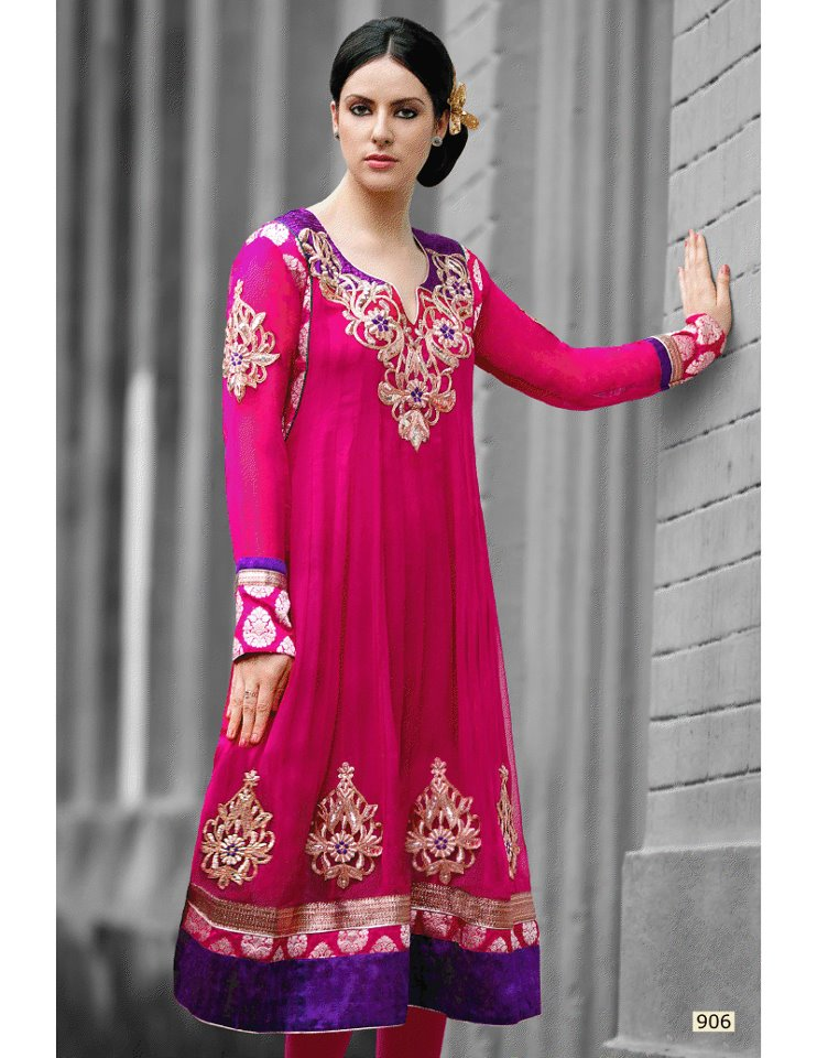 Latest Fashion Trend In Saree: Latest Frock Churidar Fashion For Women In Pakistan 2012
