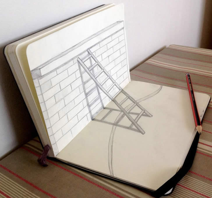 3D Sketches - Three Dimensional Art - XciteFun.net