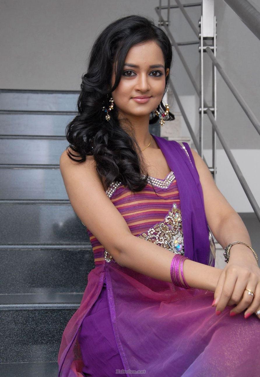 South Actress Shanvi Purple Dress Pics Xcitefun Net