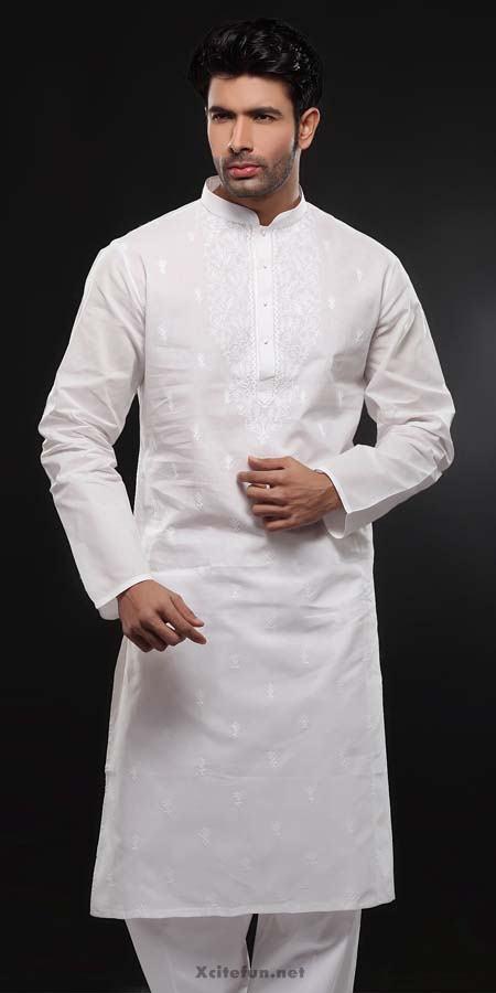 White Embroidery Salwar Kameez Designs For Men | Kurta ...  |White Salwar Kameez Designs For Men