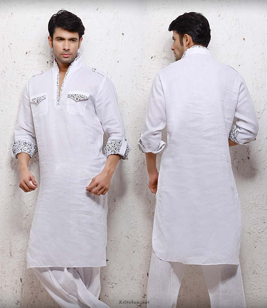 White Embroidery Salwar Kameez Designs For Men - XciteFun.net  |White Salwar Kameez Designs For Men