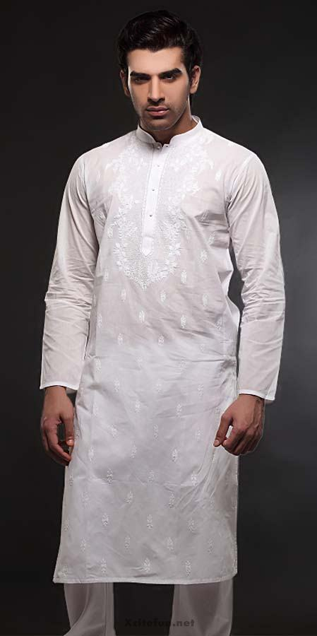 white embroidery salwar kameez designs for men