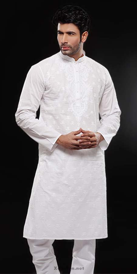 White Shalwar Men Kameez Designs For Men White