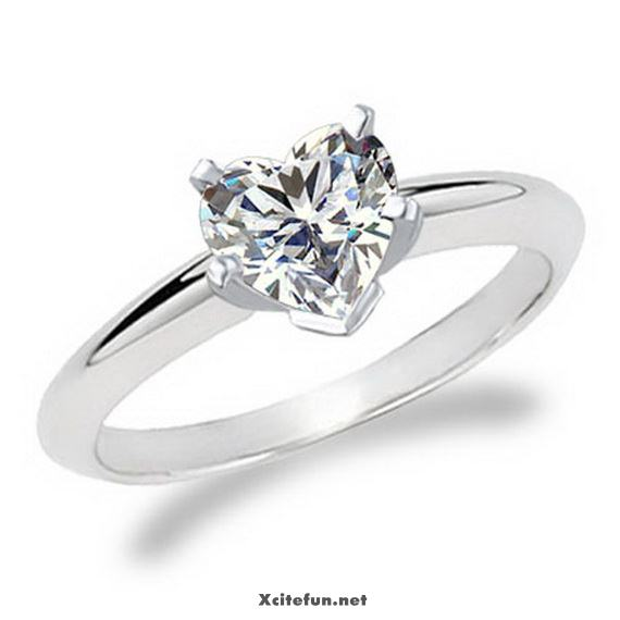 heart shaped casual wear rings for women