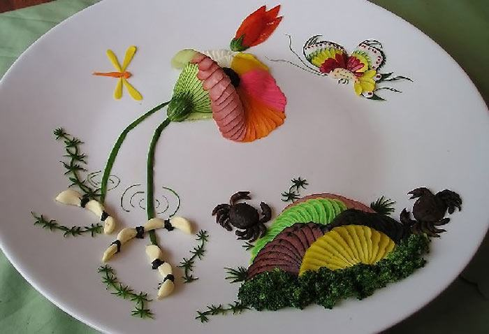 Chinese decoration and presentation of food for Art of food decoration