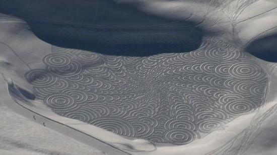 302294xcitefun snow artworks 3 - Large Scale Snow Circles - Frozen Artwork