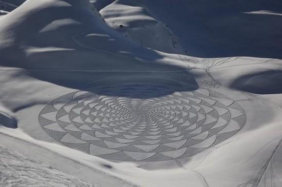 302295xcitefun snow artworks 2 - Large Scale Snow Circles - Frozen Artwork