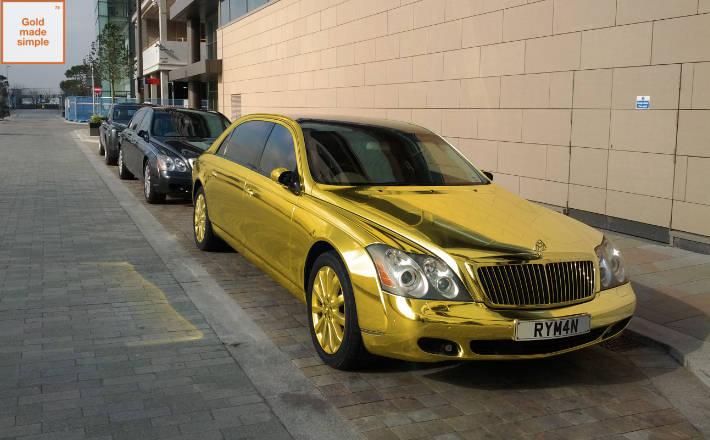 Maybach Golden Flashy Car Xcitefun Net