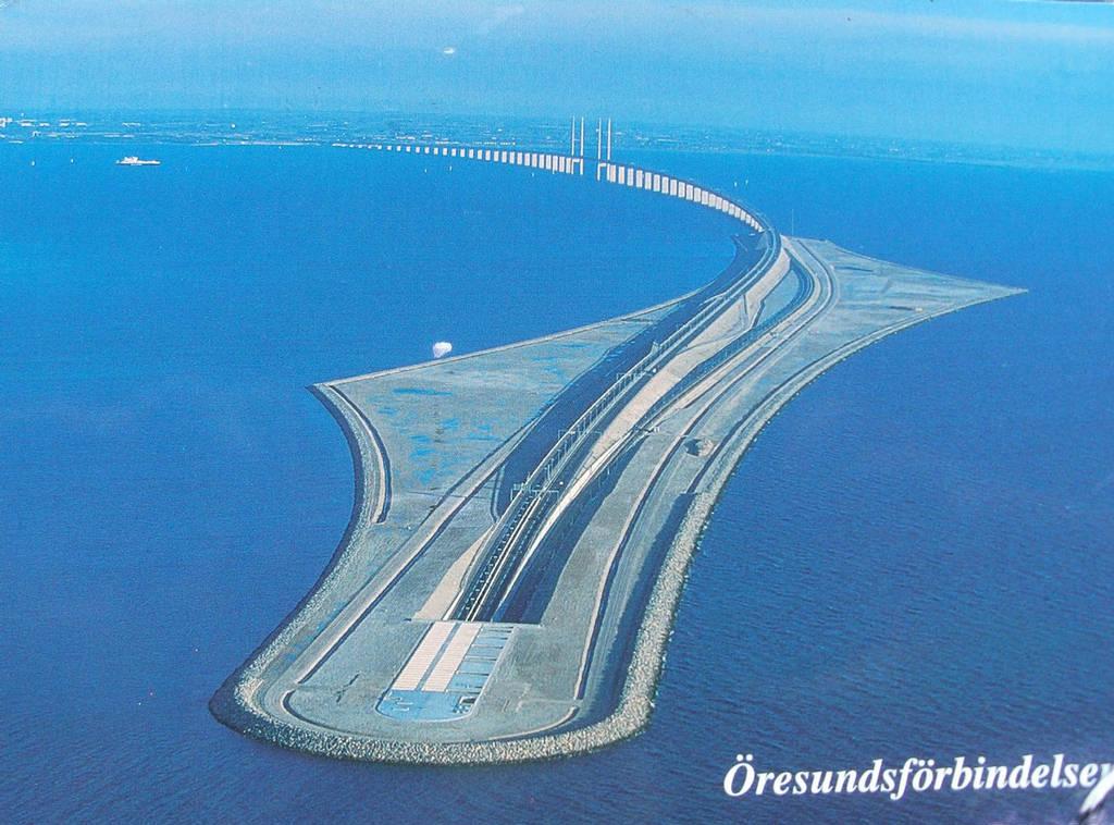 Oresund Bridge Amp Undersea Tube Tunnel Sweden N Denmark